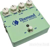 Diamond Halo Chorus Pedal in Surf Green