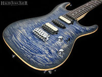 Suhr Custom Carve Top Standard in Faded Tans Whale Blue at Humbucker Music