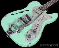 Trussart Deluxe Steelcaster in Surf Green at Humbucker Music