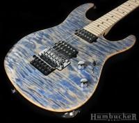 Suhr Pro M6 in Trans Blue Denim Slate at Humbucker Music