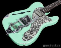 Trussart Deluxe Steelcaster w/ B16 in Surf Green at Humbucker Music